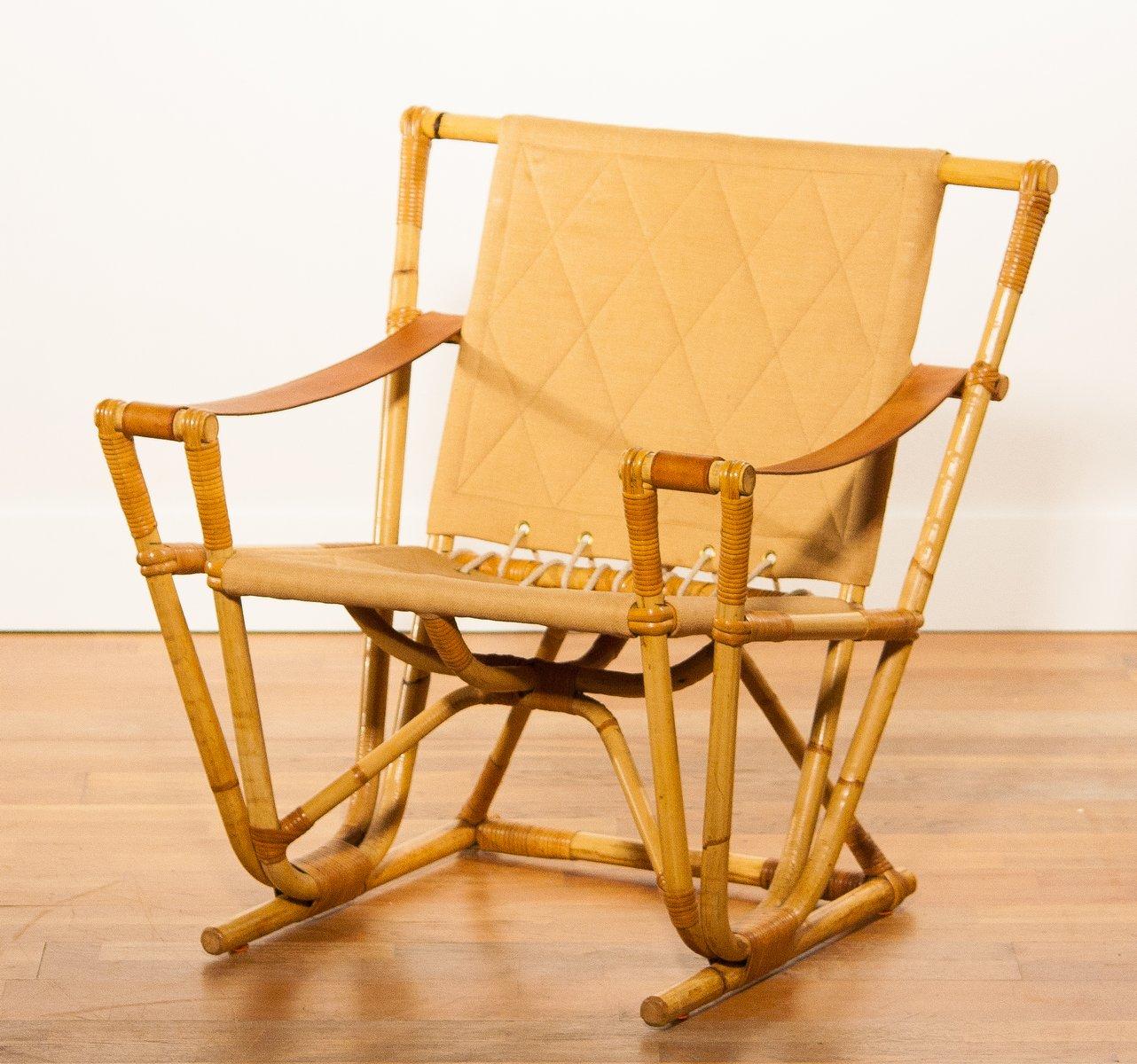 Bamboo rocking chair - Bamboo Chair 1950s