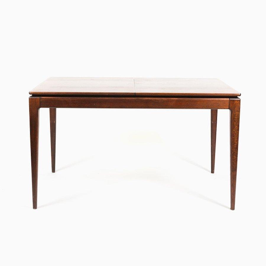 ausziehbarer mid century esstisch aus buche bei pamono kaufen. Black Bedroom Furniture Sets. Home Design Ideas