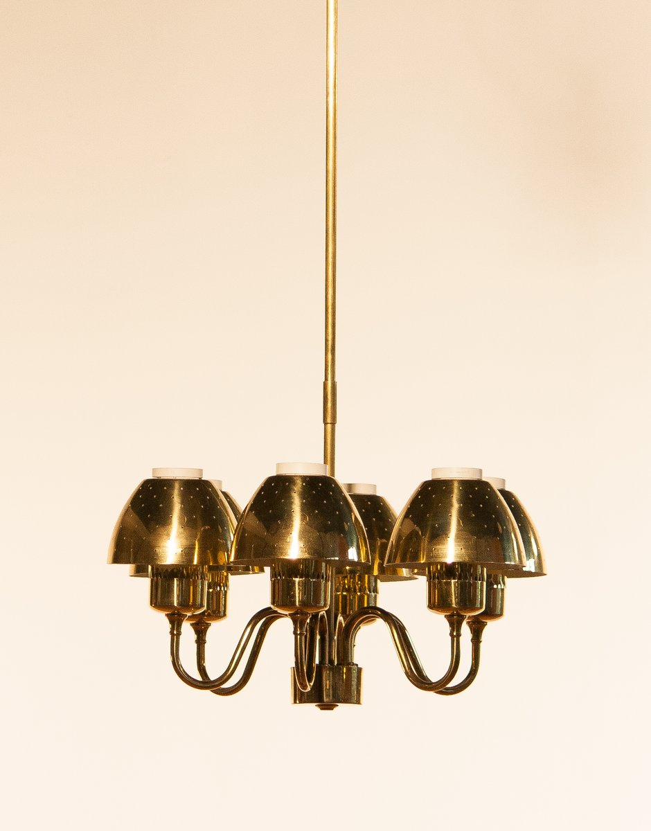 Golden Chandelier by Hans-Agne Jacobsson, 1960s for sale at Pamono:Golden Chandelier by Hans-Agne Jacobsson, 1960s,Lighting