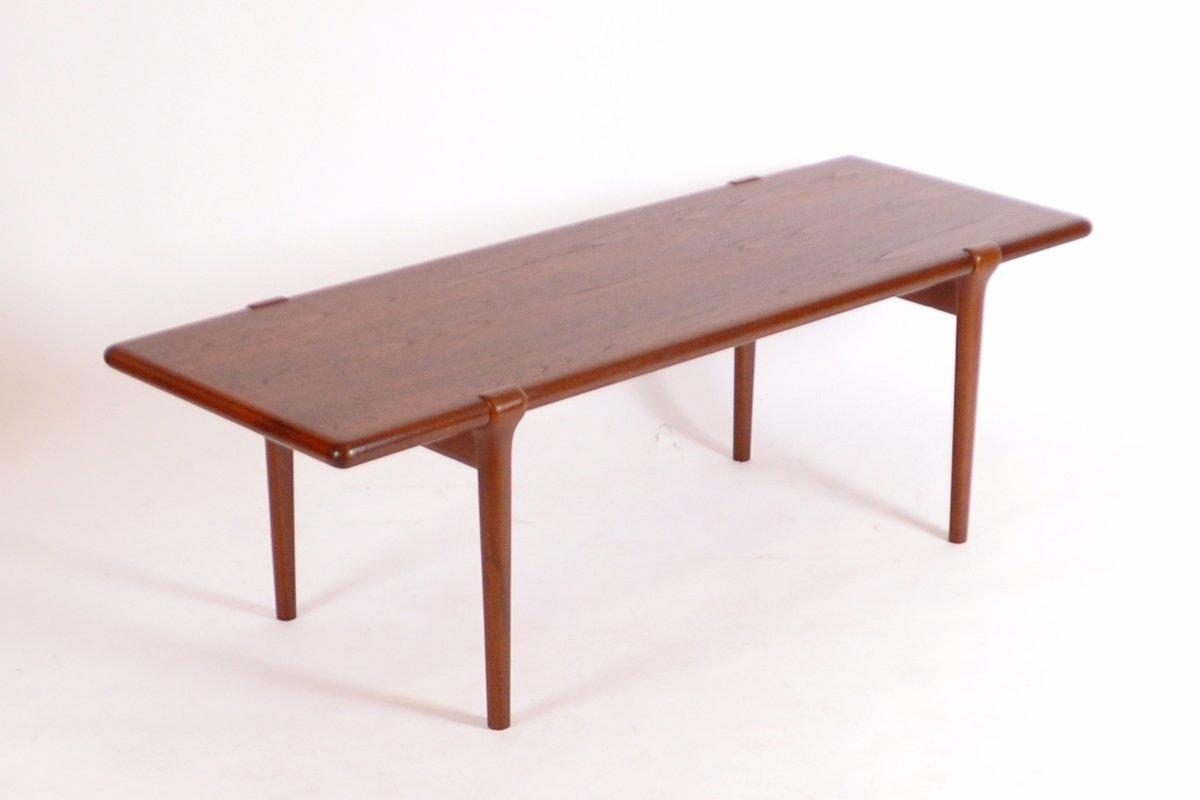 mid-century danish coffee table in teakniels o. møller for