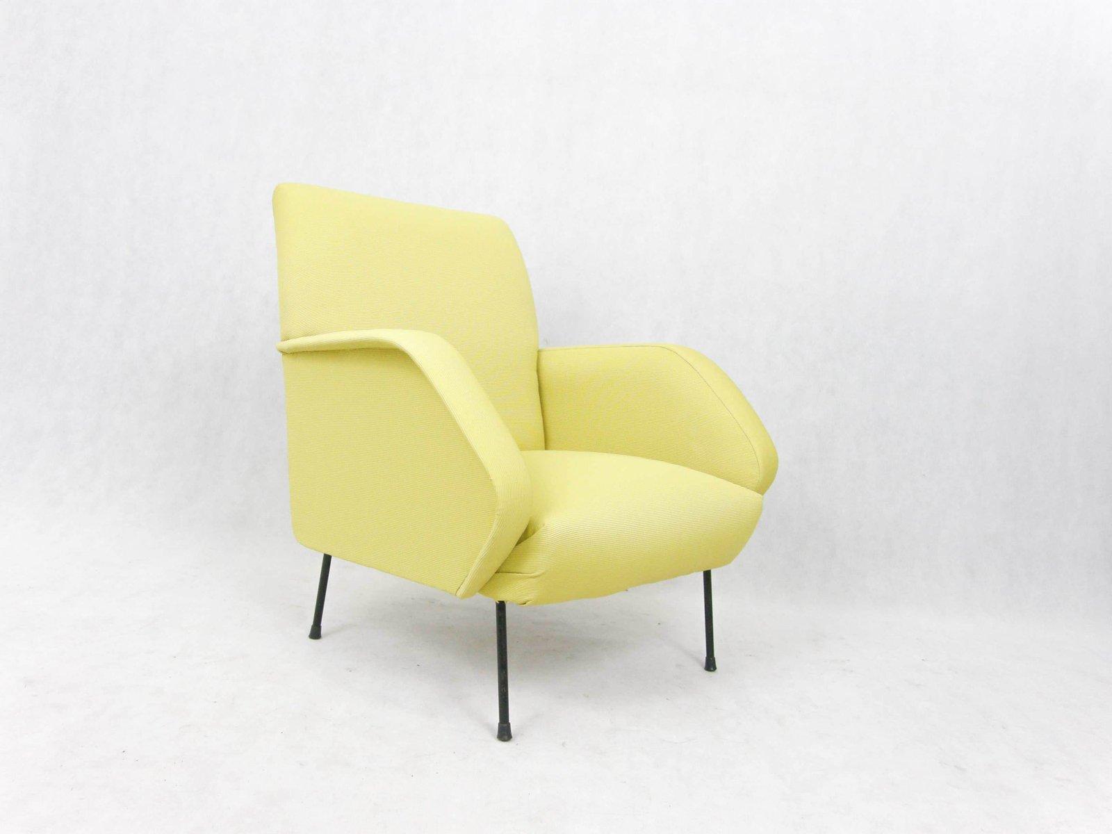 Gelbe italienische vintage sessel 2er set bei pamono kaufen for Sessel italienisches design