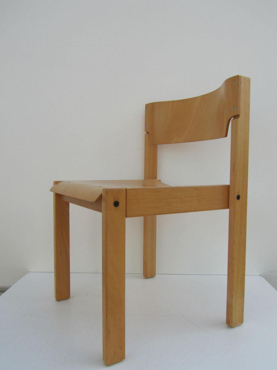 minimalistische skandinavische st hle aus buche 1970er. Black Bedroom Furniture Sets. Home Design Ideas