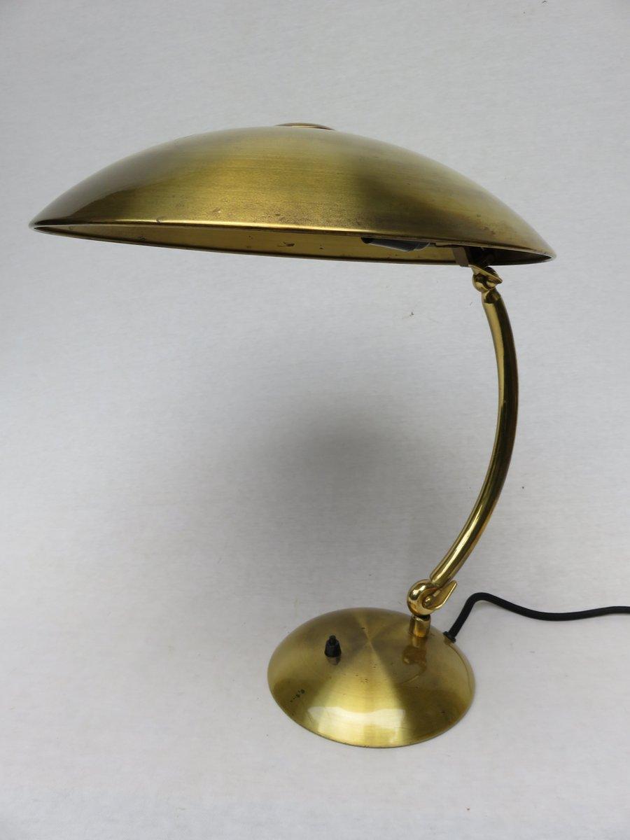 Messing Schreibtischlampe von Hillebrand, 1930er bei Pamono kaufen