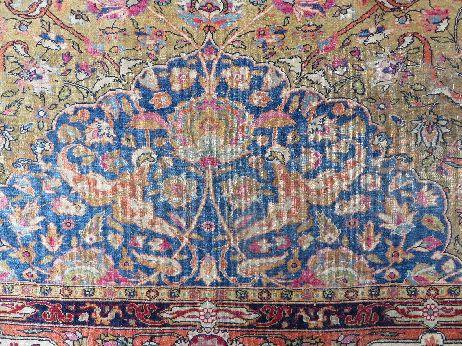Großer Isfahan Teppich, 1920er bei Pamono kauf
