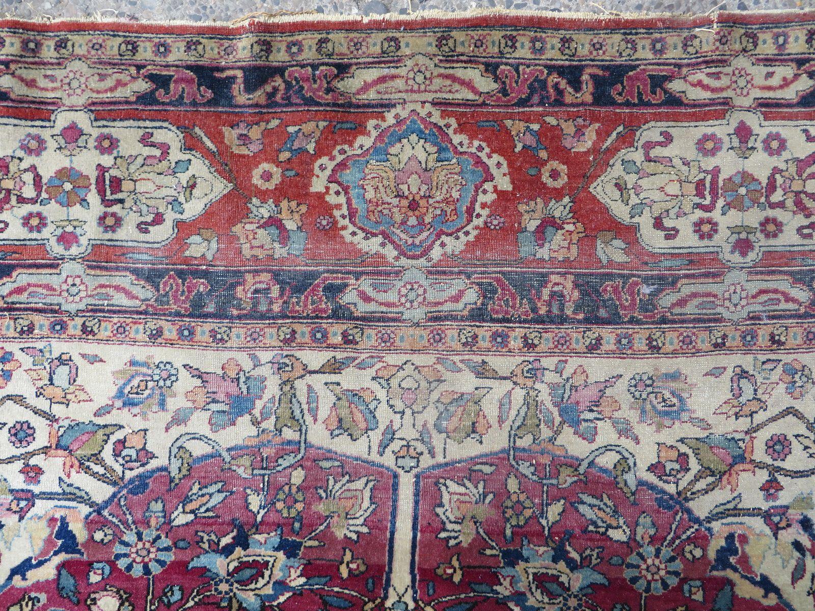 Großer Isfahan Teppich, 1920er bei Pamono kaufen