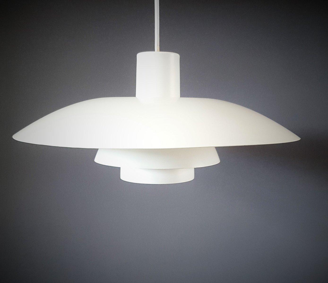 vintage white ph 4 3 pendant lamp by poul henningsen for louis poulsen for sale at pamono. Black Bedroom Furniture Sets. Home Design Ideas