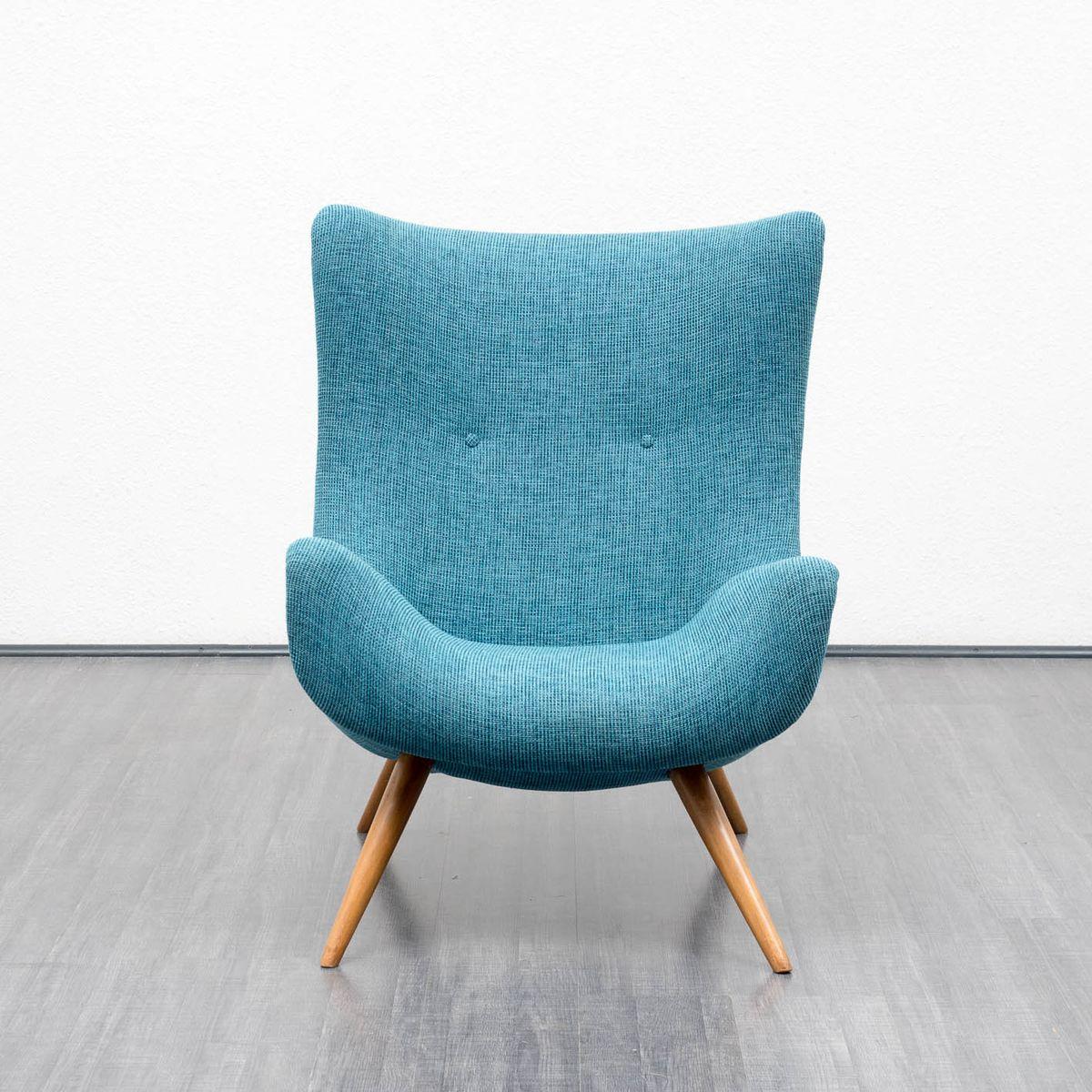 Blauer vintage sessel 1950er bei pamono kaufen for Sessel auf englisch