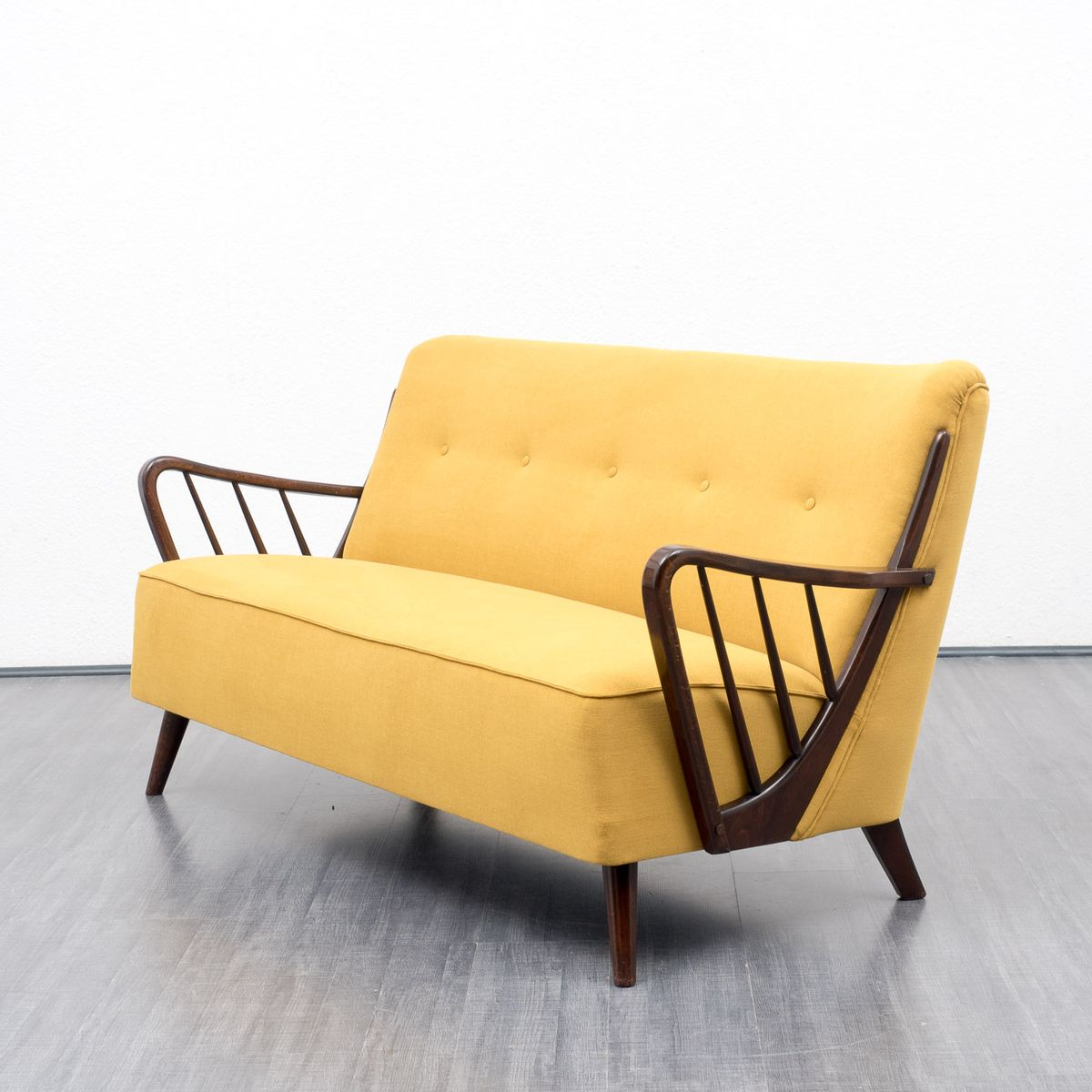 Yellow Two Seater Sofa 1950s For Sale At Pamono