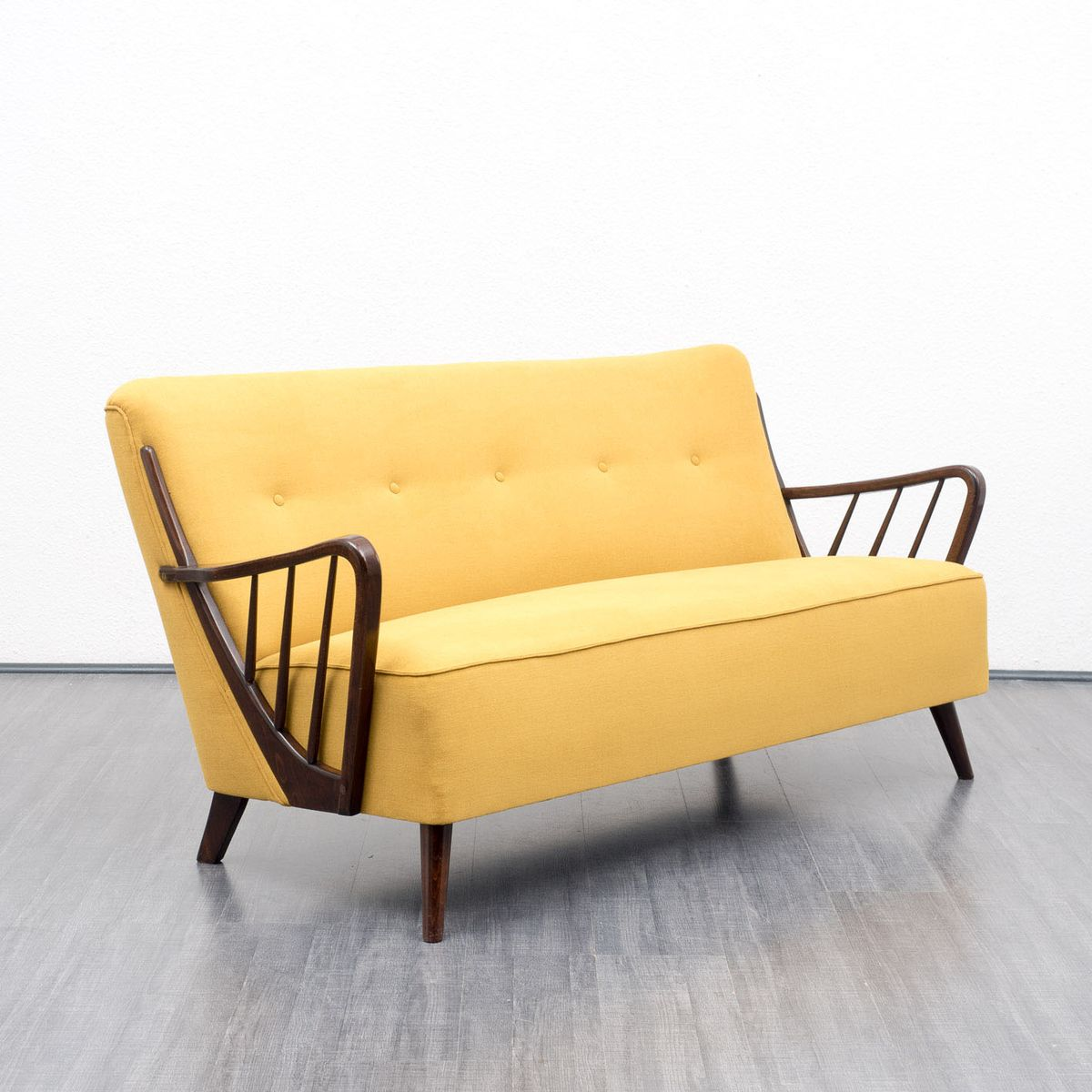 Yellow two seater sofa 1950s for sale at pamono for Sofa 6 seater