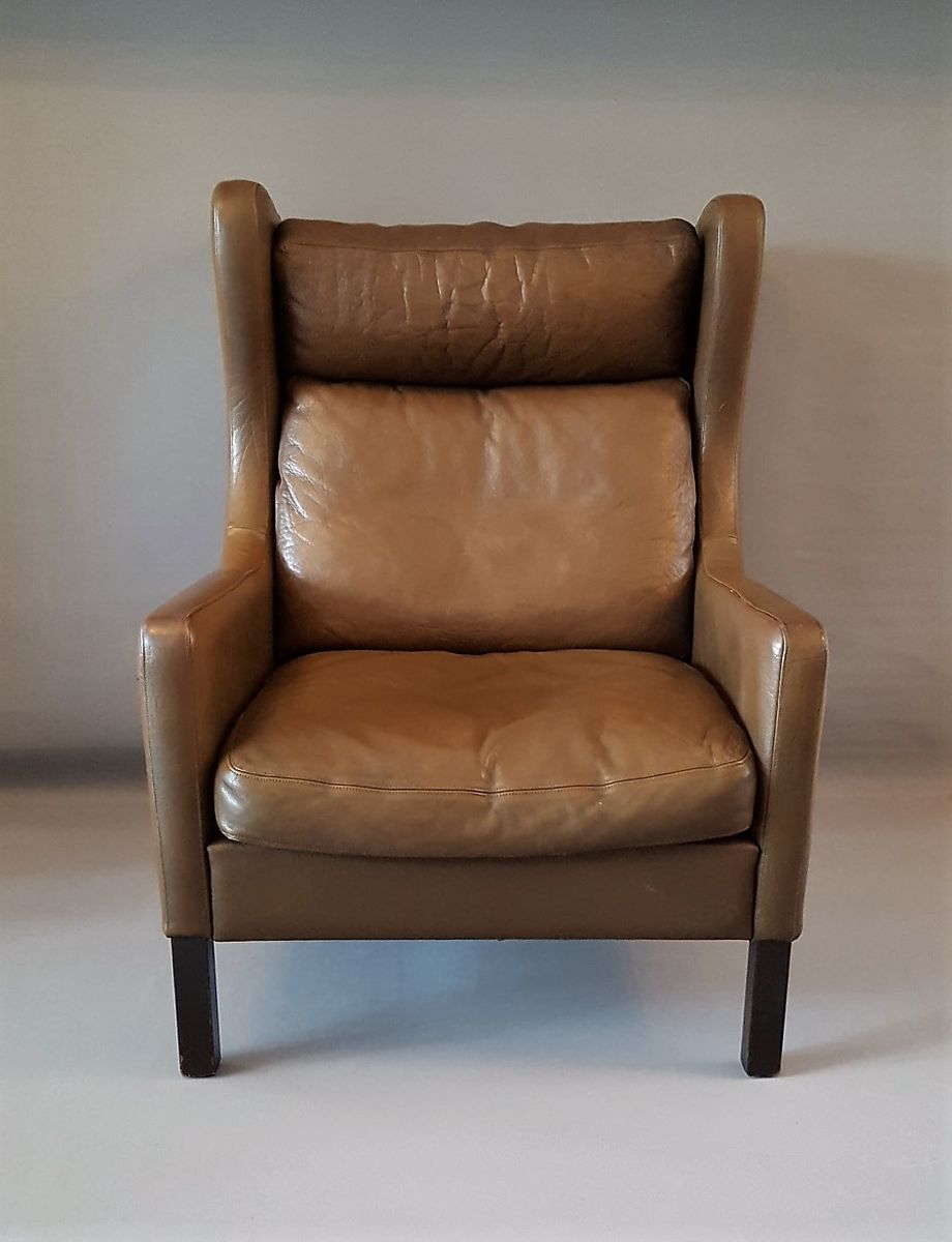 Vintage Danish Wingback Chair from Stouby for sale at Pamono
