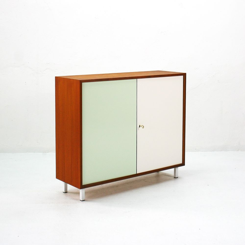 Teak two door commode from wk m bel 1960s for sale at pamono for Wohnzimmereinrichtung vintage