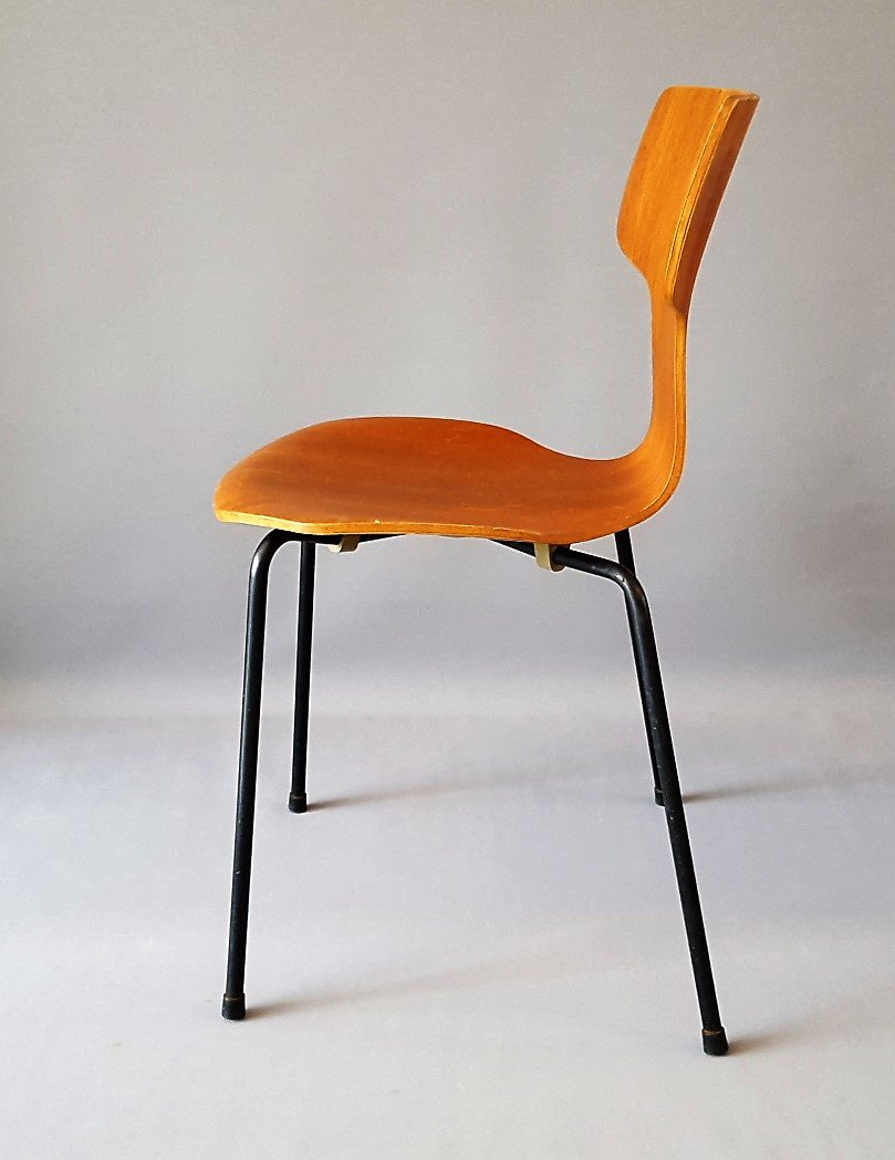 model 3103 hammer chair by arne jacobsen for fritz hansen 1964 for sale at pamono. Black Bedroom Furniture Sets. Home Design Ideas