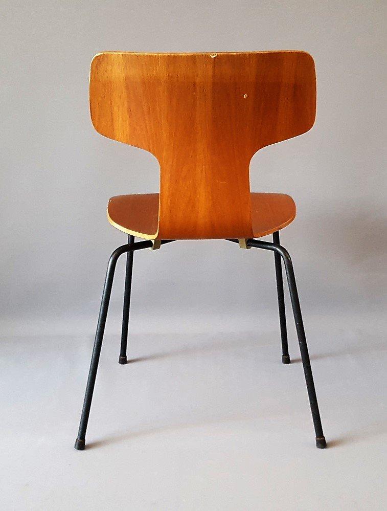 chaise mod le 3103 hammer par arne jacobsen pour fritz hansen 1964 en vente sur pamono. Black Bedroom Furniture Sets. Home Design Ideas