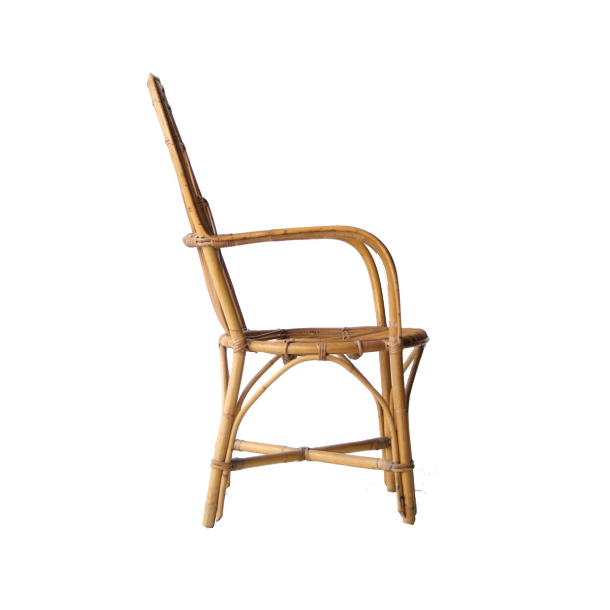 vintage french bamboo armchair for sale at pamono