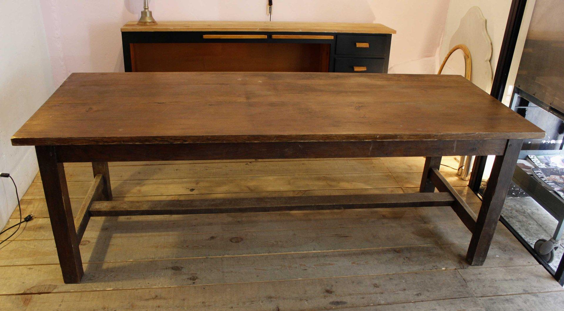 Vintage Oak Farmhouse Dining Table for sale at Pamono : vintage oak farmhouse dining table 1 from www.pamono.co.uk size 1920 x 1058 jpeg 181kB