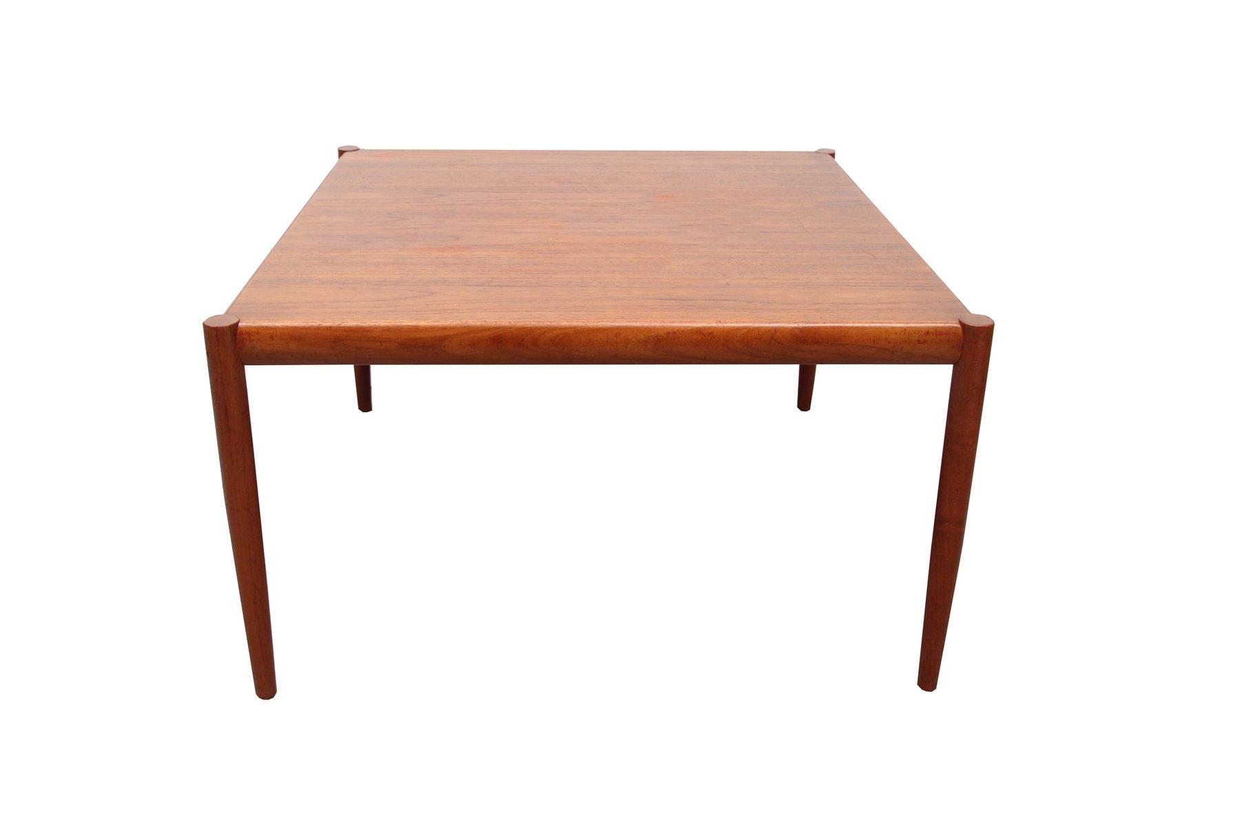 Square Danish Teak Veneer Coffee Table 1960s For Sale At Pamono