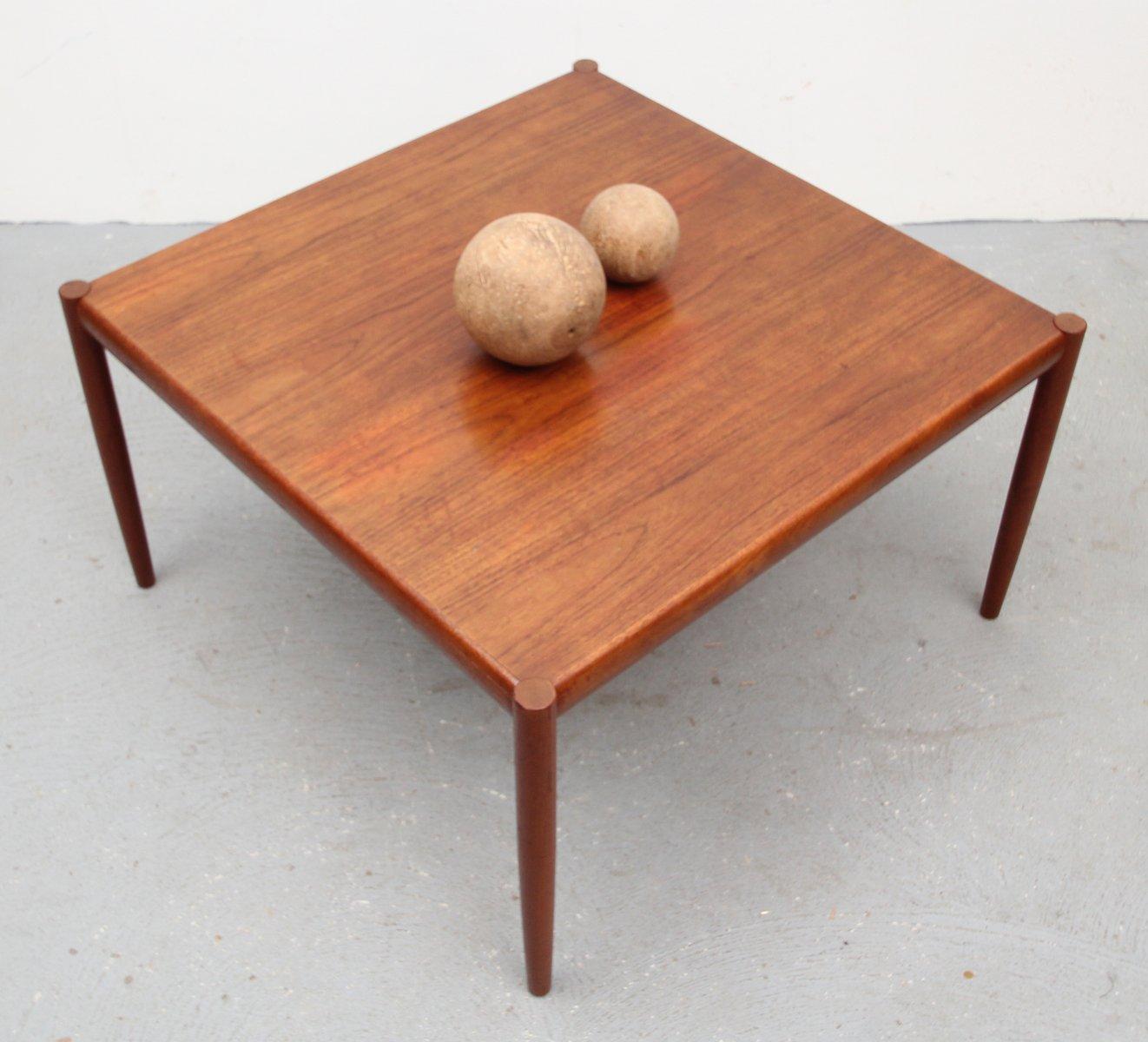Teak Root Coffee Table Canada: Square Danish Teak Veneer Coffee Table, 1960s For Sale At