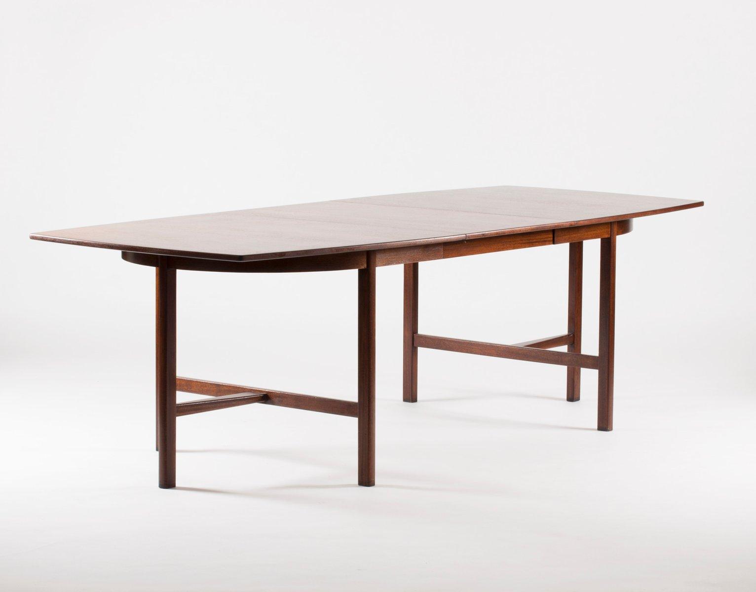 Table de salle manger en acajou rallonge par carl axel for Salle a manger 1950