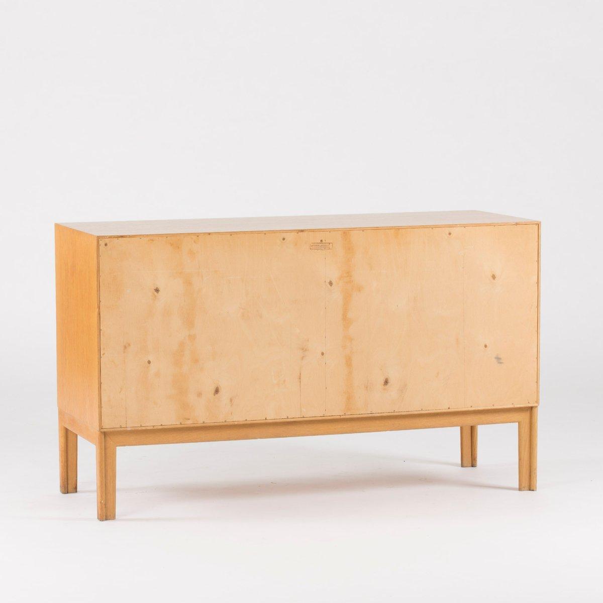 eiche rattan sideboard von alf svensson f r bj sta. Black Bedroom Furniture Sets. Home Design Ideas