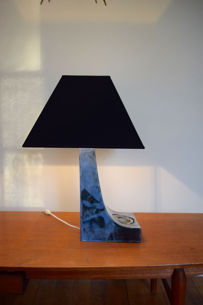Blue Geometric Table Lamp for sale at Pamono
