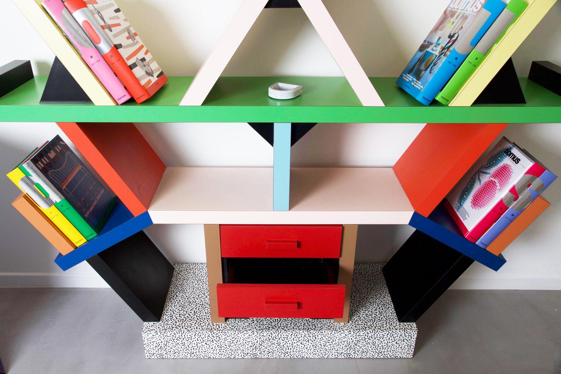 Italian Carlton Bookcase By Ettore Sotts For Memphis Milano