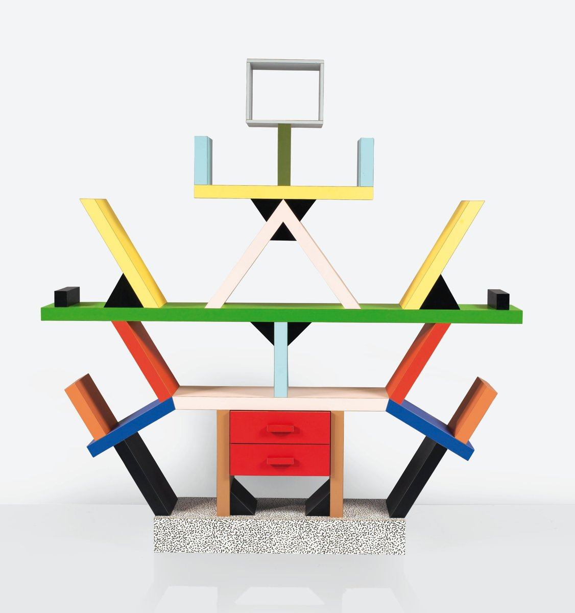 Italian carlton bookcase by ettore sottsass for memphis for Memphis sottsass