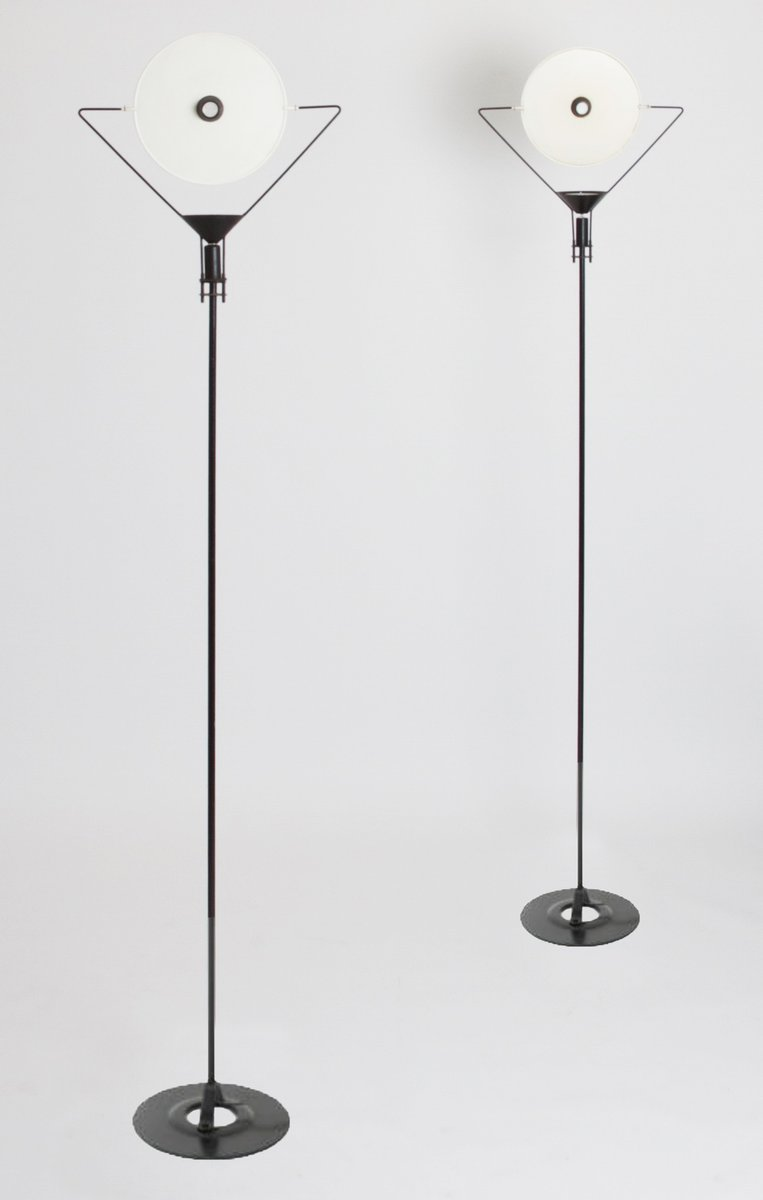 polifemo floor lamps by carlo forcolini for artemide 1980s set of 2 - Artemide Lighting