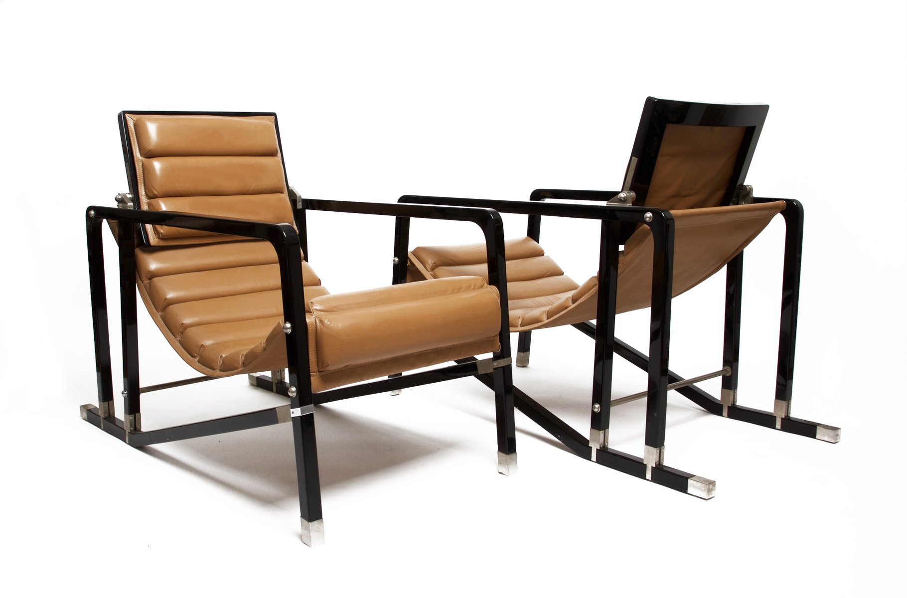 Eileen gray transat chairs by andr e putman for ecart for Lampadaire la chaise longue