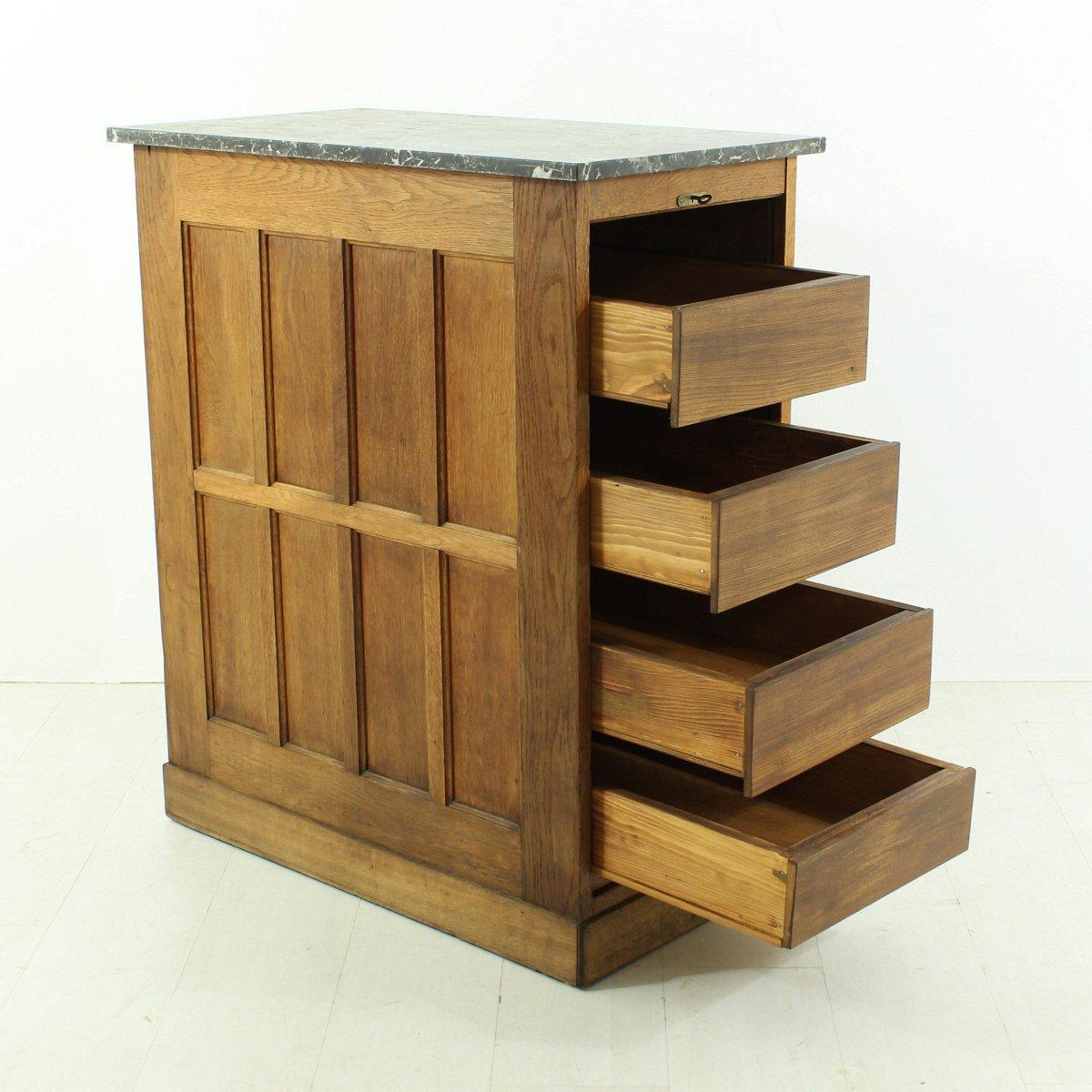 franz sischer vintage schrank mit tambour t ren 1930er bei pamono kaufen. Black Bedroom Furniture Sets. Home Design Ideas