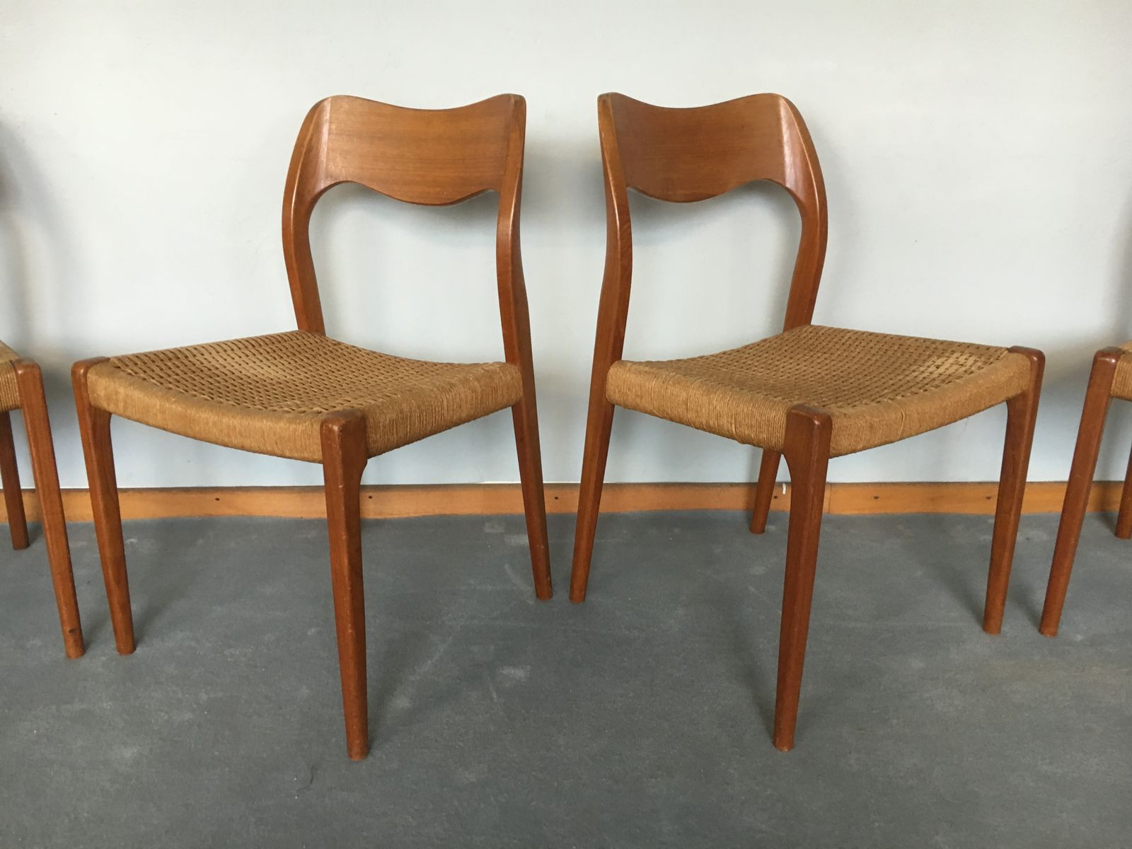 Perfect Model 71 Dining Chairs By Niels O. Møller For J.L. Møller, 1960s, Set Of 4  For Sale At Pamono