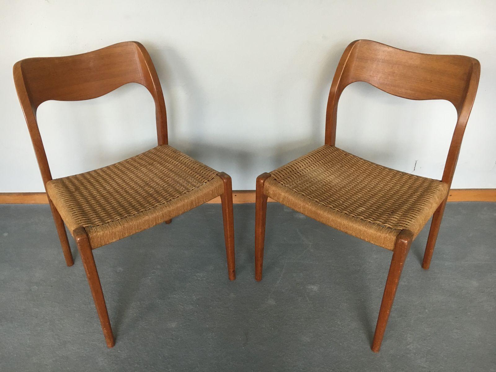 Model 71 Dining Chairs By Niels O. Møller For J.L. Møller, 1960s, Set Of 4