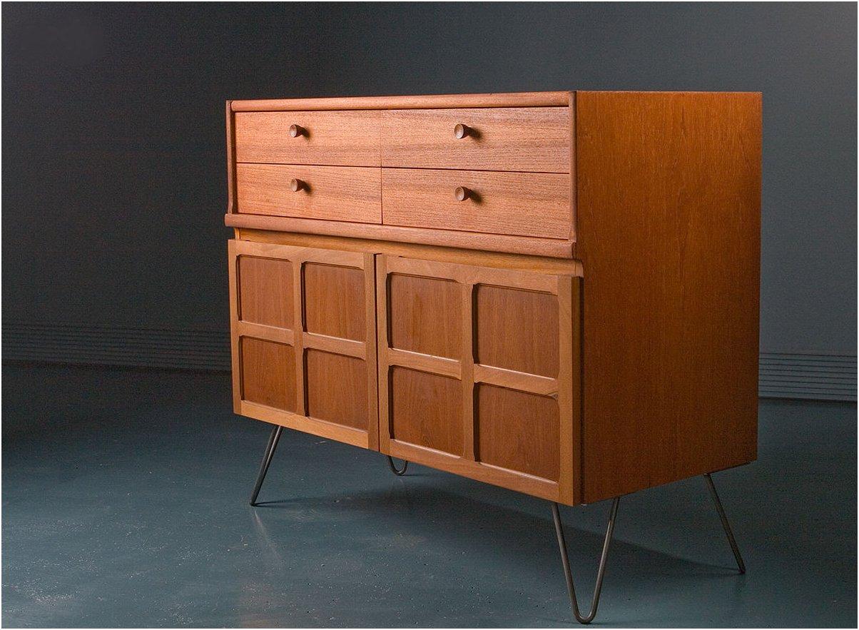 kleines teak sideboard von nathan 1970er bei pamono kaufen. Black Bedroom Furniture Sets. Home Design Ideas