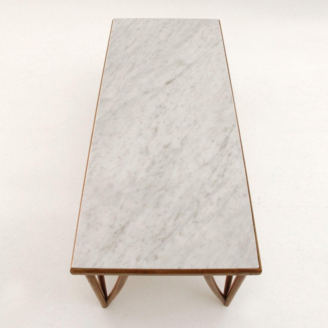 Table basse mid century avec plateau en marbre italie 1960s en vente sur pamono - Table basse plateau marbre ...