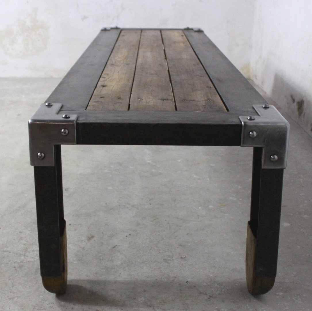 Long industrial coffee table 1950s for sale at pamono long industrial coffee table 1950s geotapseo Choice Image