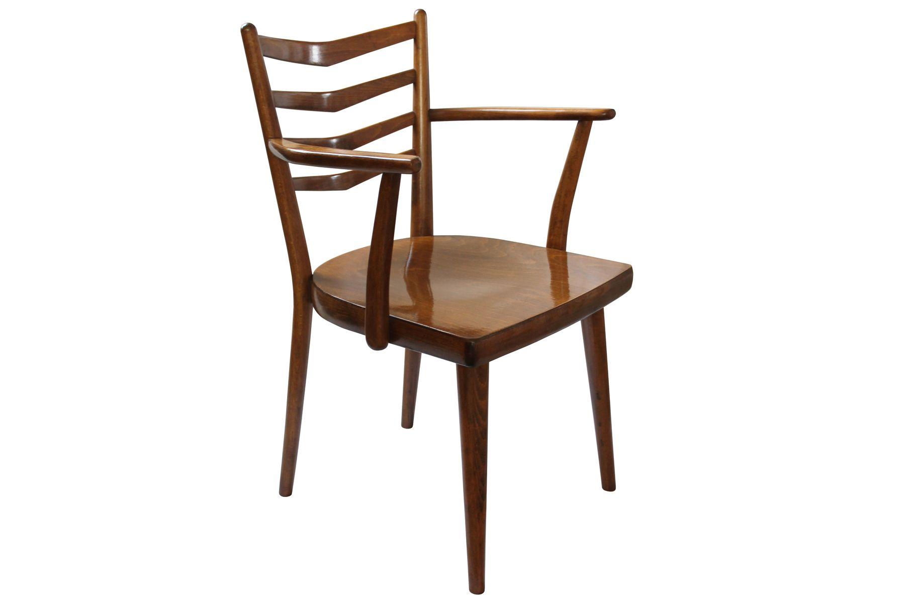 esszimmerst hle mit armlehnen von ton 1962 2er set bei pamono kaufen. Black Bedroom Furniture Sets. Home Design Ideas