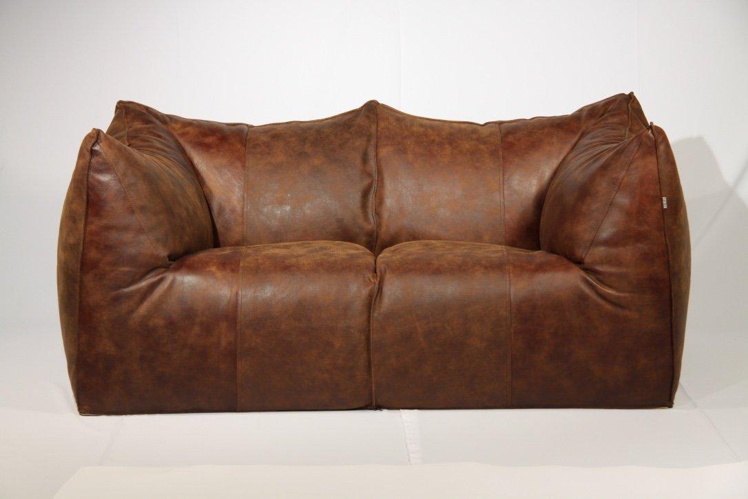 Vintage Le Bambole Leather Sofa By Mario Bellini For B B Italia 1970s For Sale At Pamono