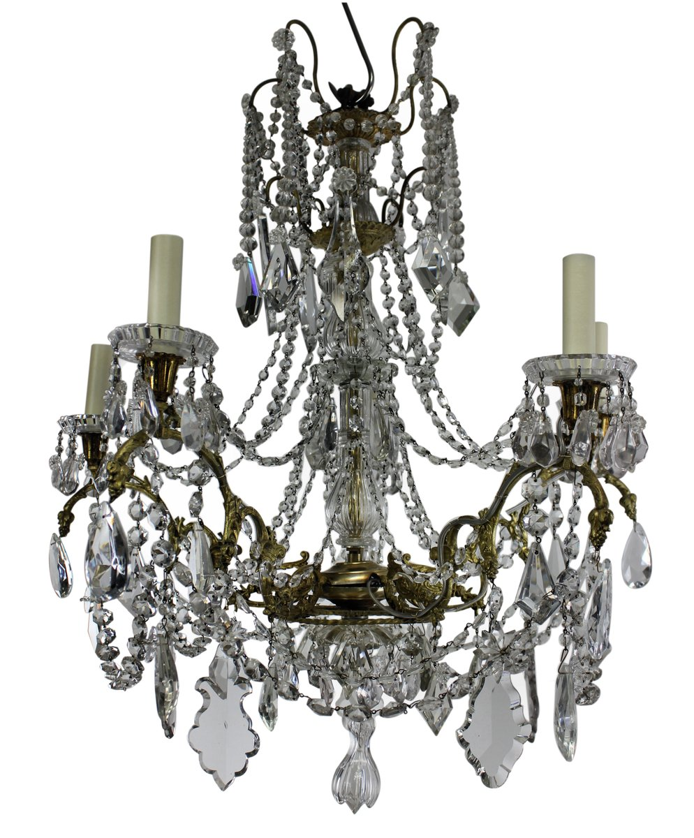 Antique French Chandelier From Baccarat 1880s For Sale At