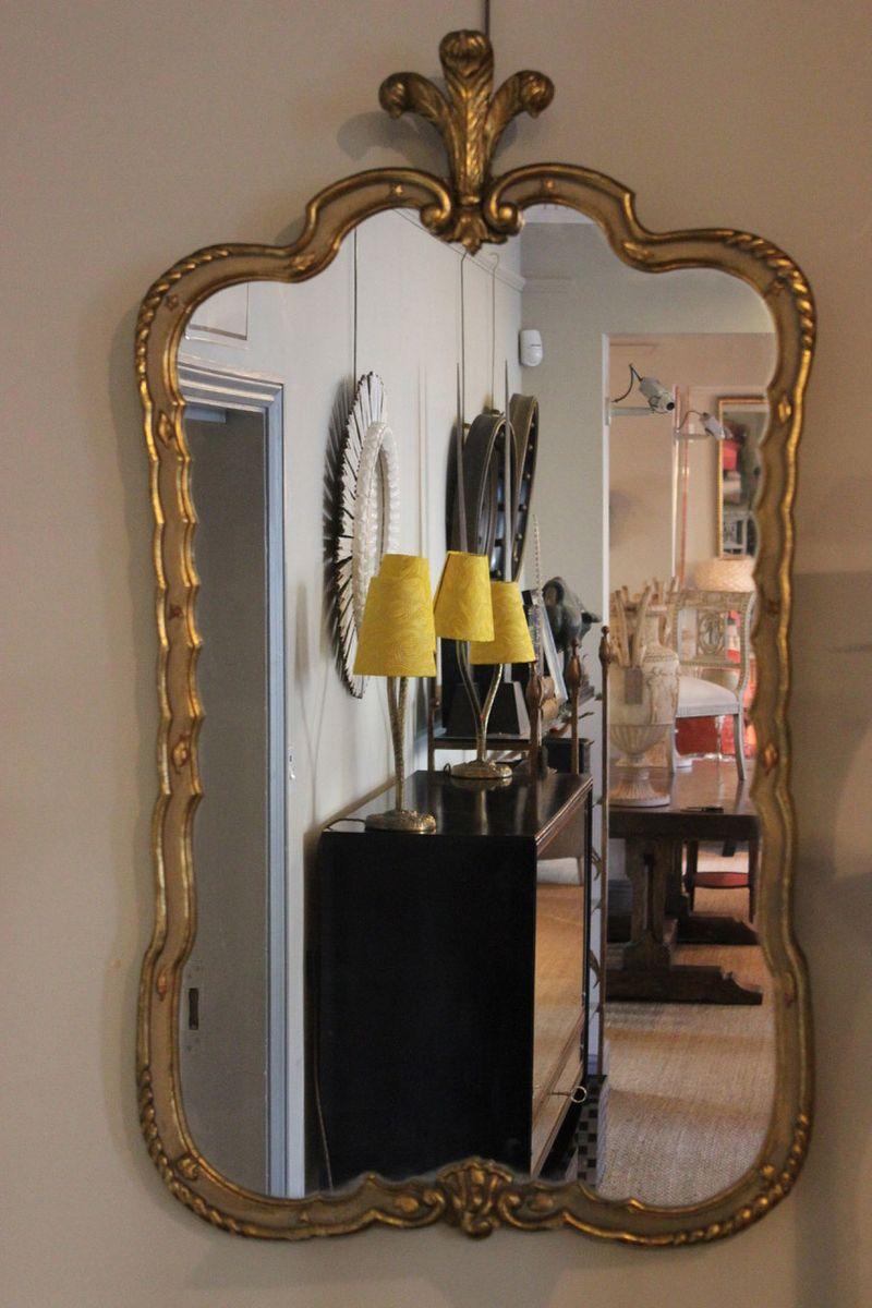 Spanischer spiegel mit vergoldetem rahmen 1950er bei for Der spiegel spanien