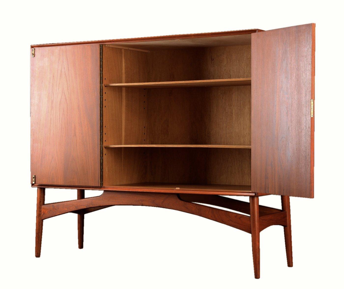 buffet en teck par borge seindal danemark 1960s en vente sur pamono. Black Bedroom Furniture Sets. Home Design Ideas