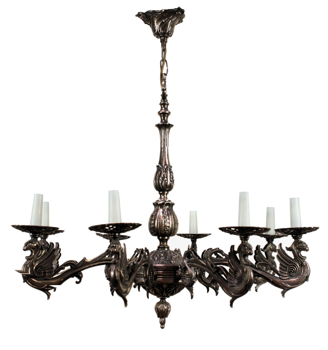 lustre gothique en bronze argent france 1900s en vente sur pamono. Black Bedroom Furniture Sets. Home Design Ideas