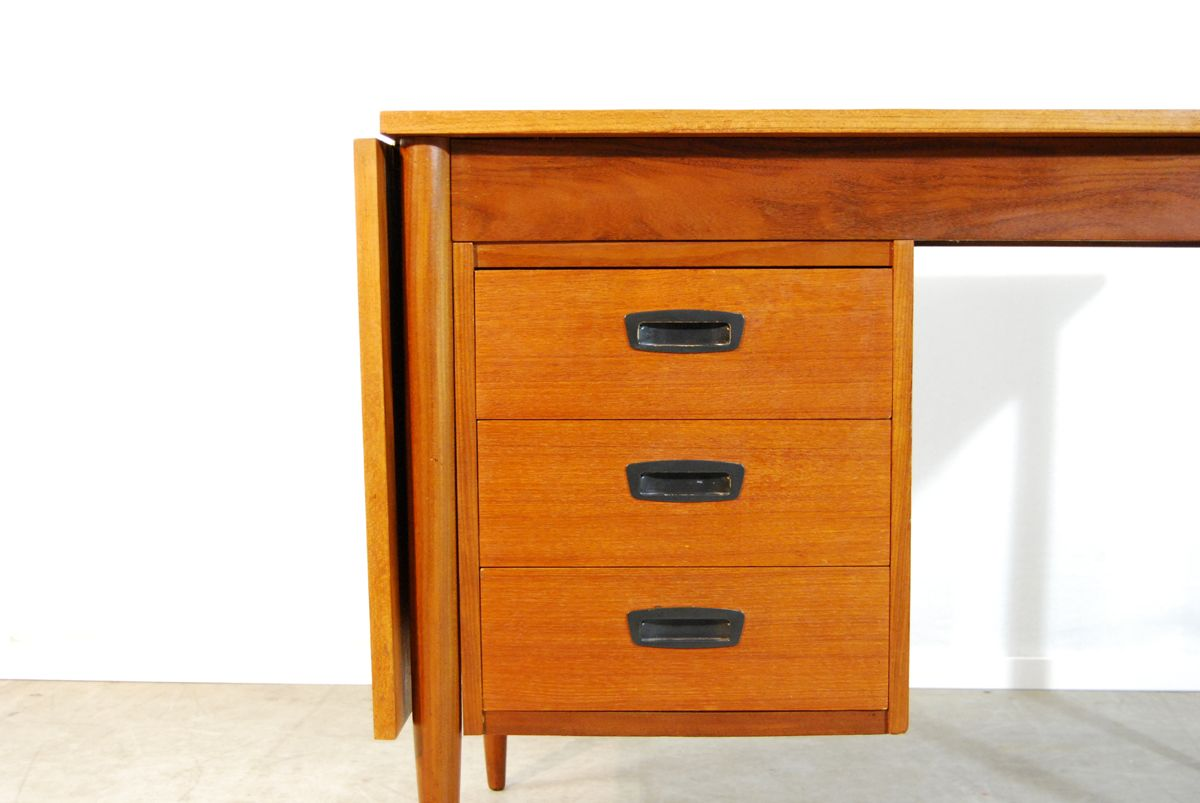 bureau en teck avec abattant danemark 1960s en vente sur pamono. Black Bedroom Furniture Sets. Home Design Ideas