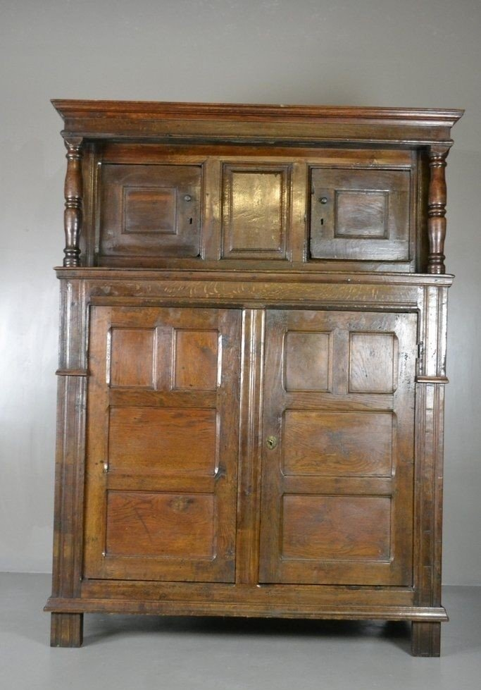 Antique Rustic Oak Court Cupboard - Antique Rustic Oak Court Cupboard For Sale At Pamono