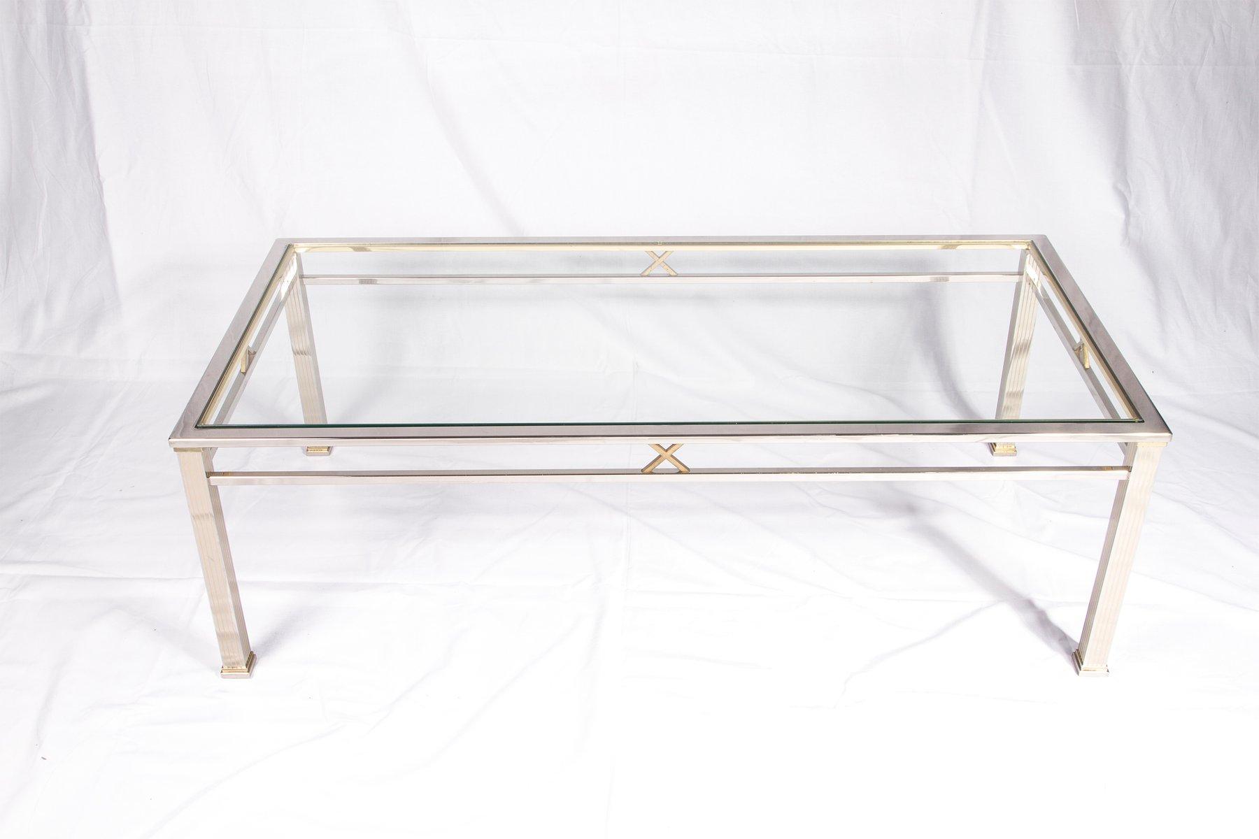 chrom und glas couchtisch von belgochrom bei pamono kaufen. Black Bedroom Furniture Sets. Home Design Ideas