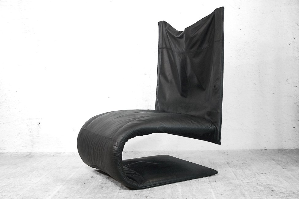 French Leather Zen Chair by Claude Brisson for Ligne Roset, 1980s ...