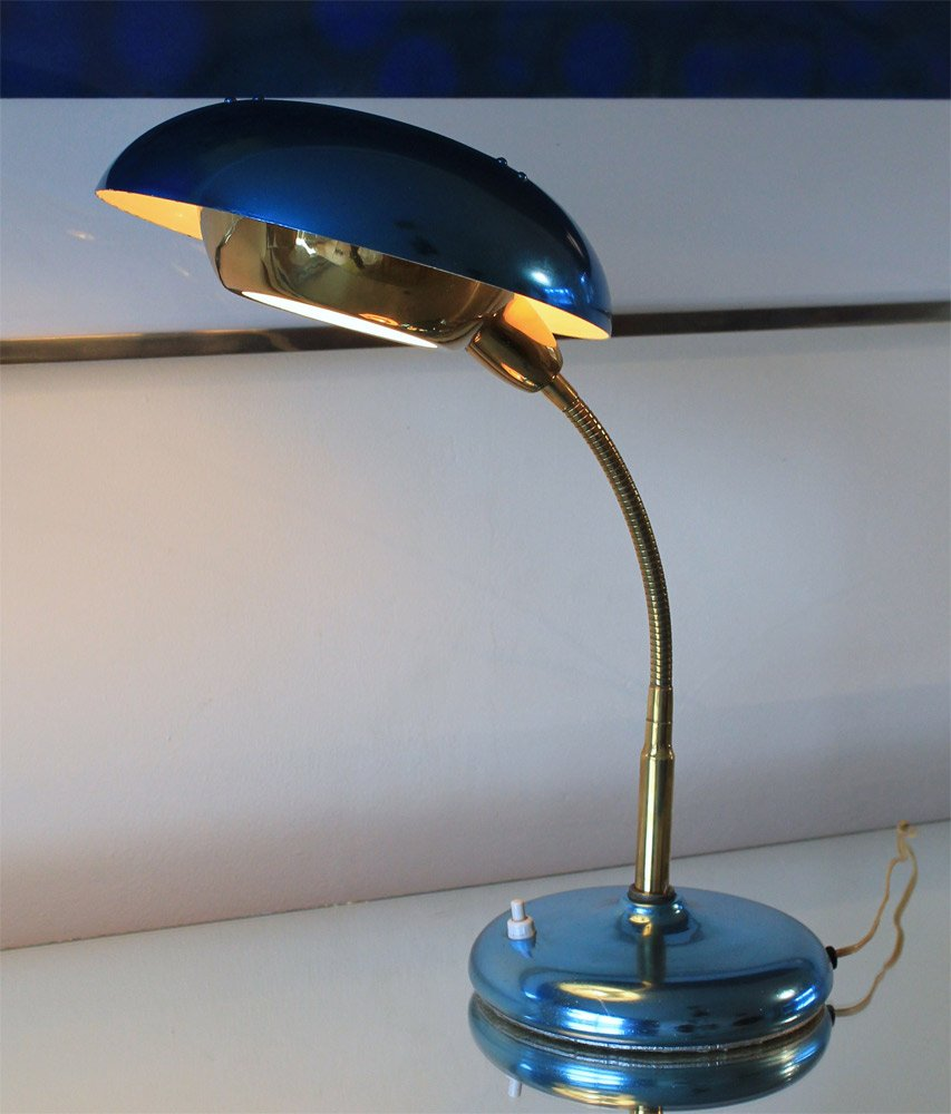 Blue aluminium flying saucer lamp 1950s for sale at pamono arubaitofo Images