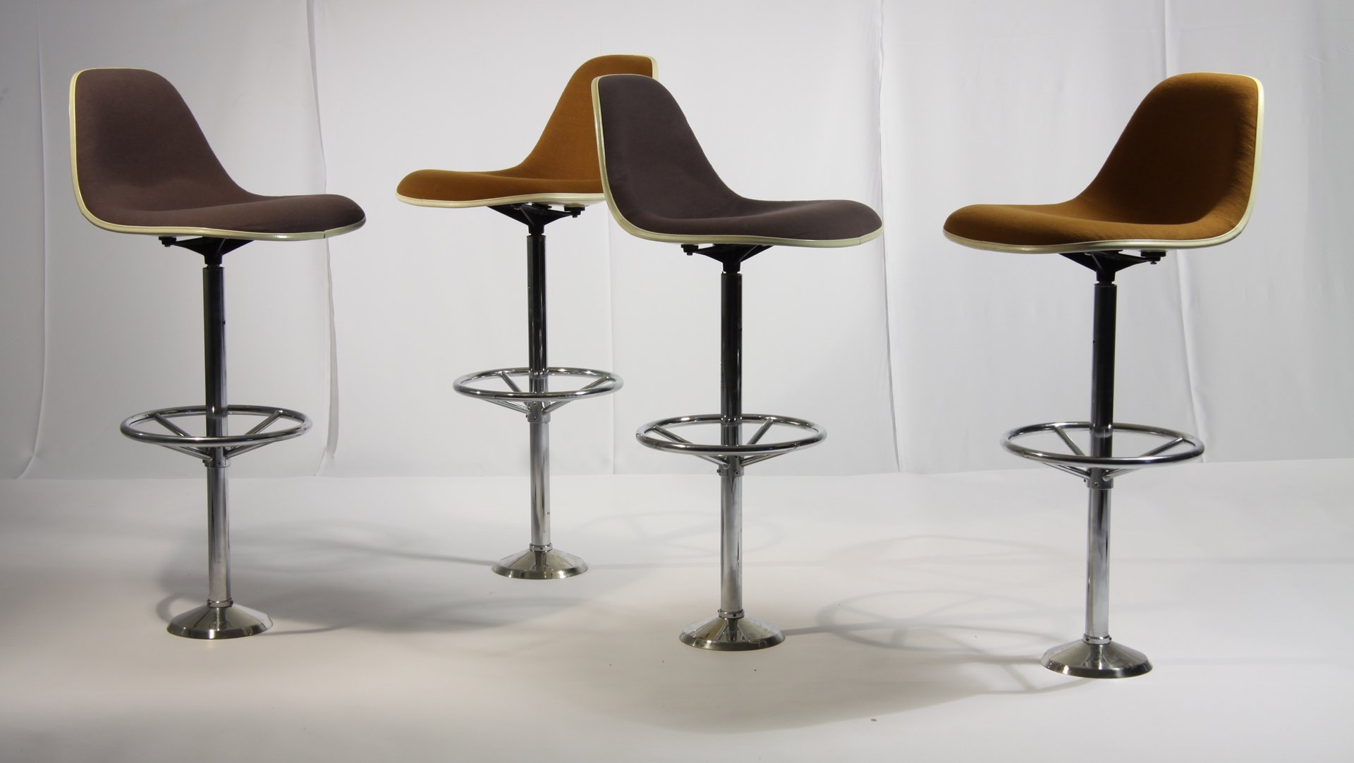 Vintage Bar Stools by Ray & Charles Eames for Herman Miller Set