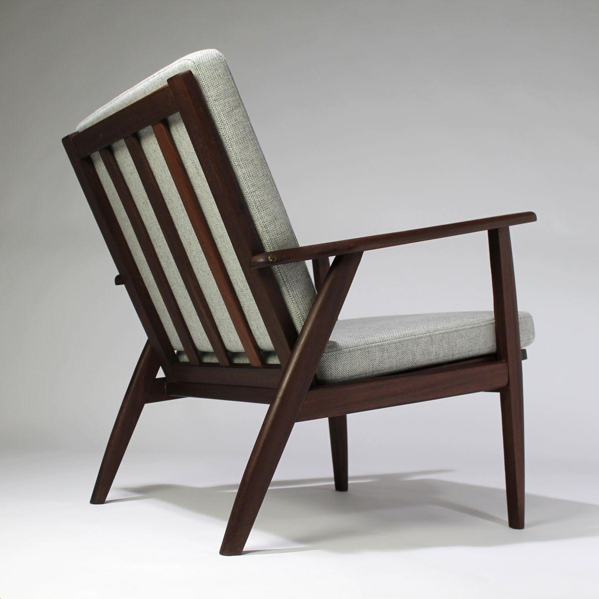 grauer d nischer sessel 1960er bei pamono kaufen. Black Bedroom Furniture Sets. Home Design Ideas