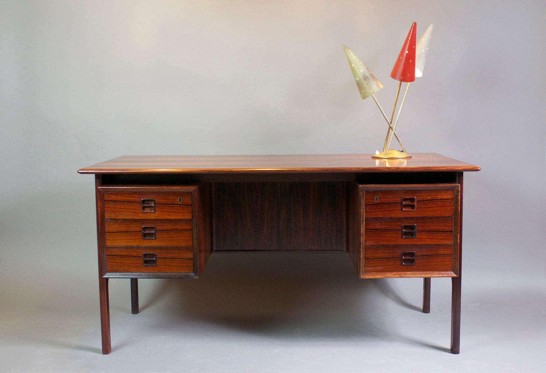 schreibtisch mit zwei unters tzen von brouer m belfabrik 1960 bei pamono kaufen. Black Bedroom Furniture Sets. Home Design Ideas