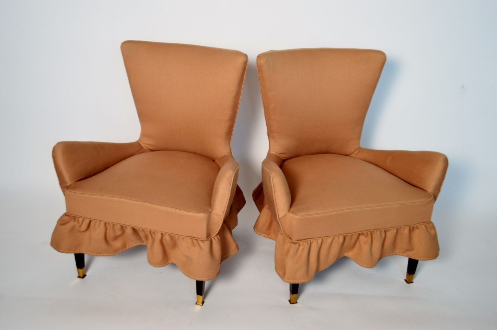 Vintage small italian armchairs 1960s set of 2 for sale for 2 armchairs for sale