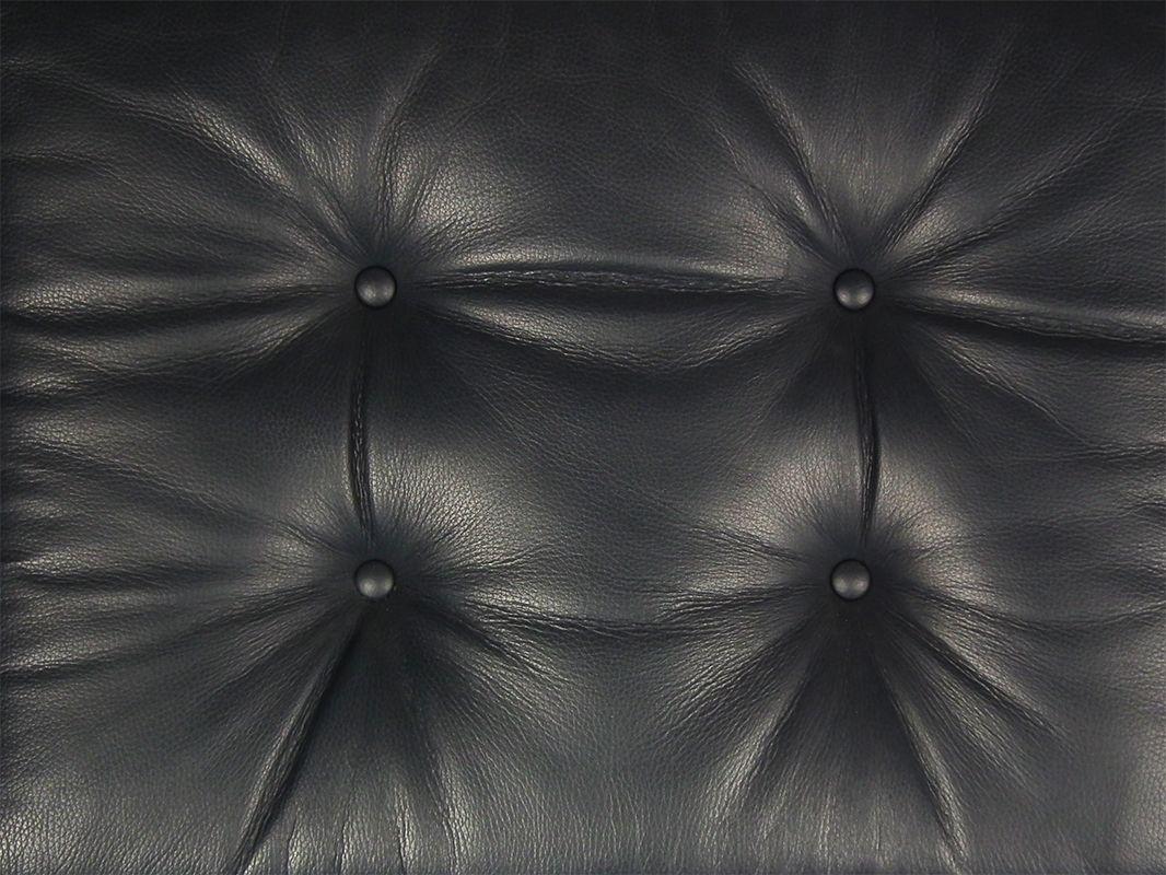 blaues mid century modern ledersofa bei pamono kaufen. Black Bedroom Furniture Sets. Home Design Ideas